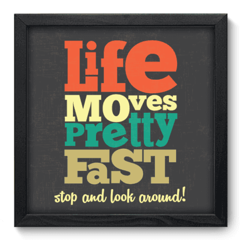 Quadro Decorativo - Life Moves - 025qdrp