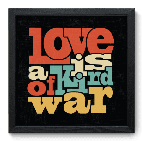 Quadro Decorativo - Kind of War - 028qdrp