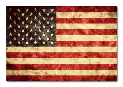 Placa Decorativa - Bandeira Estados Unidos - 0305plmk