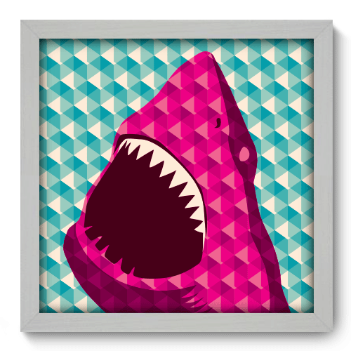 Quadro Decorativo - Shark - 030qdvb