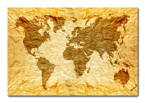 Placa Decorativa - Mapa Mundi  - 0313plmk