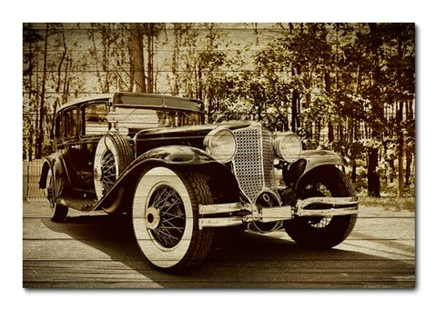 Placa Decorativa - Carros Vintage - 0325plmk