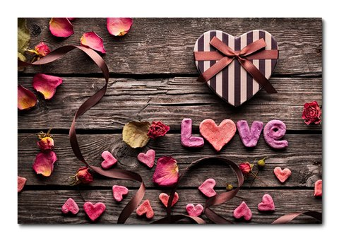 Placa Decorativa - Love - 0329plmk