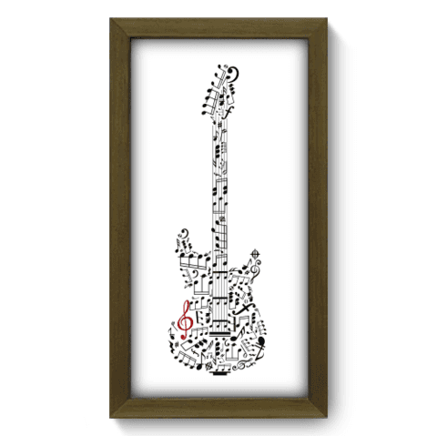 Quadro Decorativo - Guitarra - 033qdgm