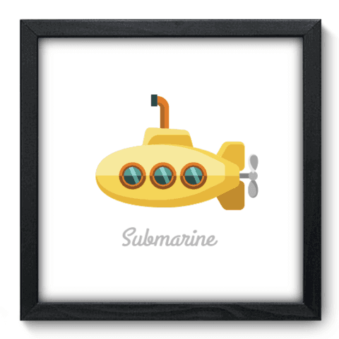 Quadro Decorativo - Yellow Submarine - 034qdgp