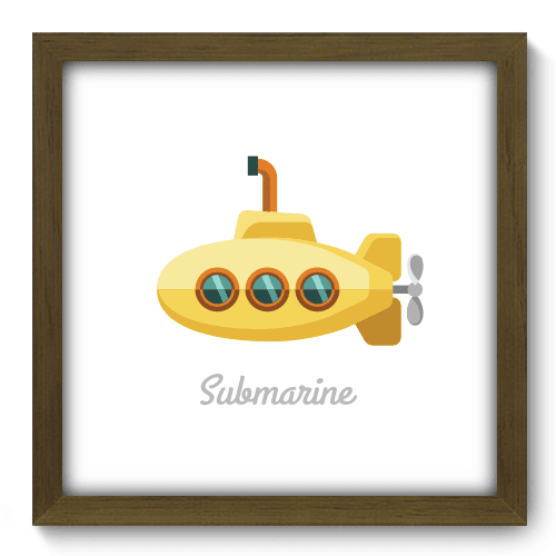 Quadro Decorativo - Yellow Submarine - 034qdgm