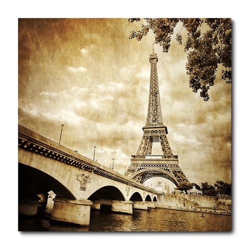 Placa Decorativa - Torre Eiffel - Paris - 0372plmk