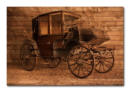 Placa Decorativa - Carros Vintage - 0375plmk