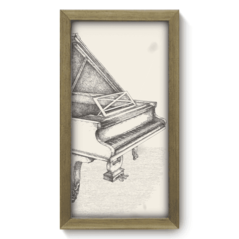Quadro Decorativo - Piano - 037qdgm