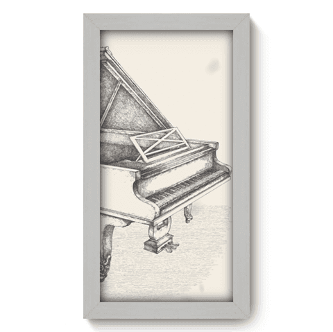 Quadro Decorativo - Piano - 037qdgb