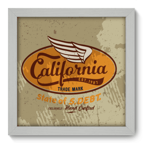 Quadro Decorativo - California - 037qdvb