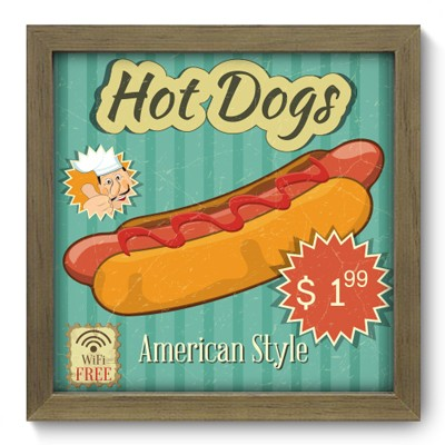 Quadro Decorativo - Hot Dogs - 038qdcm
