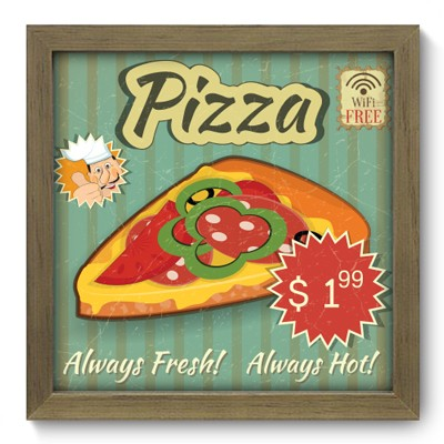 Quadro Decorativo - Pizza - 039qdcm