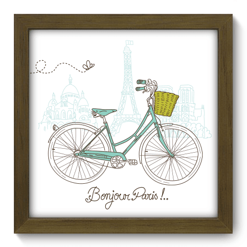 Quadro Decorativo - Bonjour Paris - 042qdmm