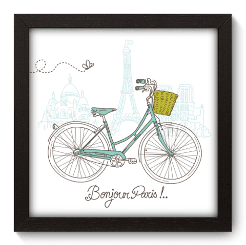 Quadro Decorativo - Bonjour Paris - 042qdmp