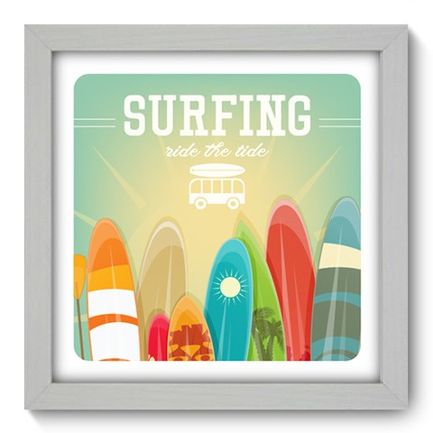 Quadro Decorativo - Surf - 046qdeb