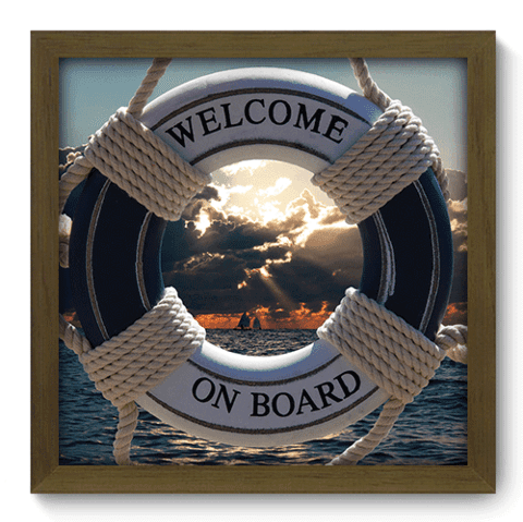 Quadro Decorativo - Welcome on Board - 048qdkm