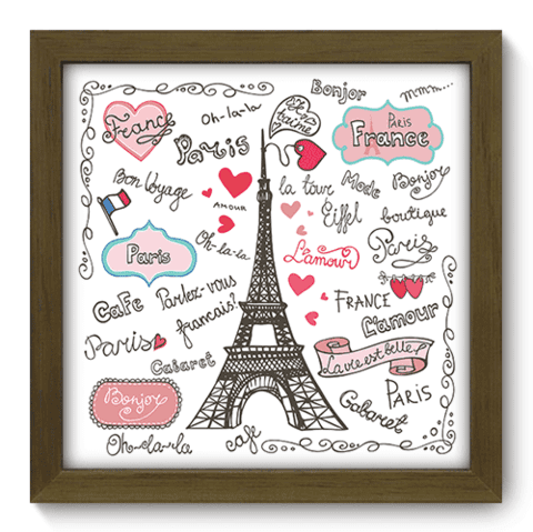 Quadro Decorativo - Paris - 052qdmm