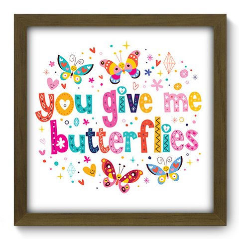 Quadro Decorativo - Butterflies - 053qdom