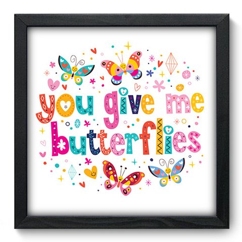 Quadro Decorativo - Butterflies - 053qdop
