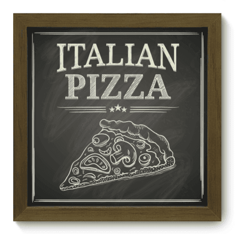 Quadro Decorativo - Pizza - 055qdcm