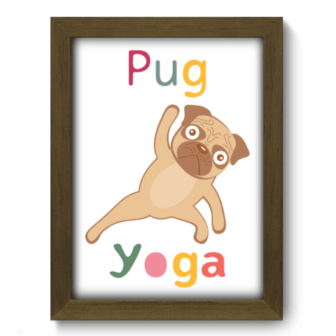 Quadro Decorativo - Yoga Pug - 055qdsm