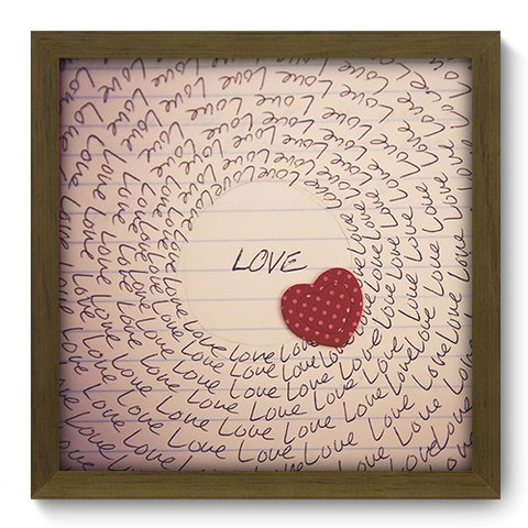 Quadro Decorativo - Love - 056qdom