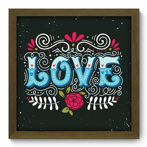 Quadro Decorativo - Love - 057qdom