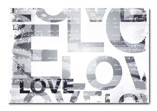 Placa Decorativa - Love  - 0598plmk