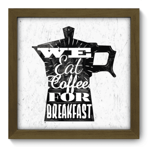 Quadro Decorativo - Eat Coffee - 059qdcm