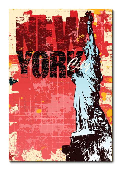Placa Decorativa - New York - 0602plmk