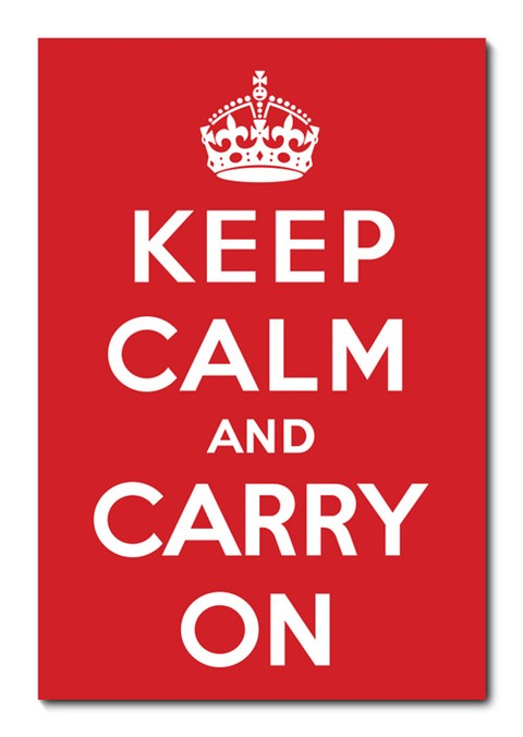 Placa Decorativa - Keep Calm and Carry On  - 0604plmk