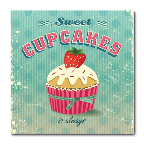 Placa Decorativa - Cupcakes - 0626plmk