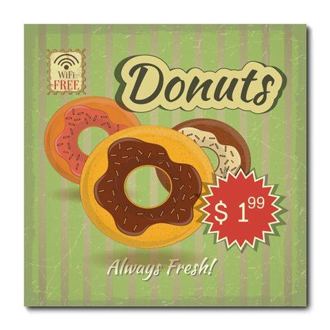 Placa Decorativa - Donuts - 0643plmk