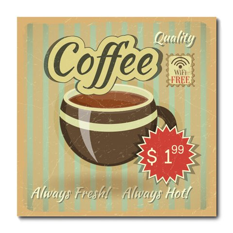 Placa Decorativa - Café - 0644plmk