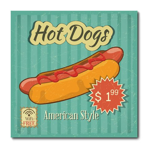 Placa Decorativa - Hot Dog - 0645plmk