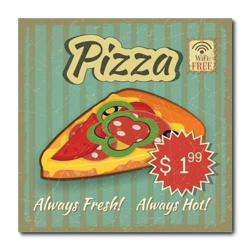 Placa Decorativa - Pizza - 0646plmk