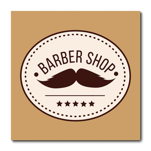 Placa Decorativa - Barber Shop - Barbearia - 0664plmk