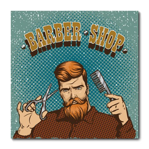 Placa Decorativa - Barber Shop - Barbearia - 0665plmk