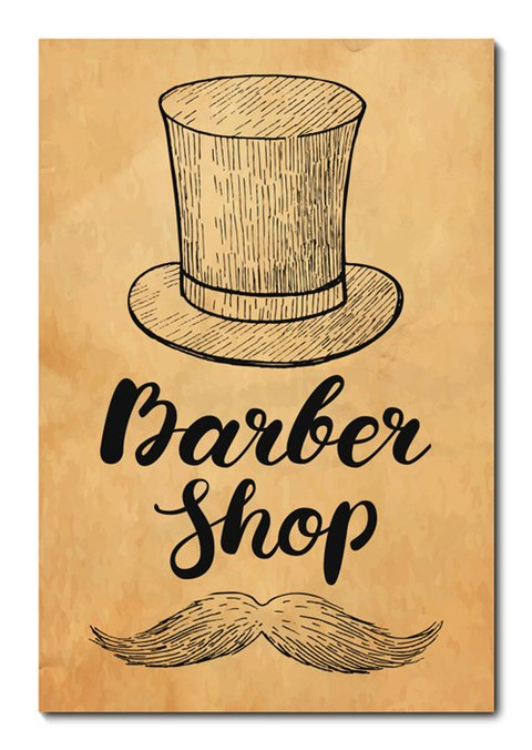 Placa Decorativa - Barber Shop - Barbearia - 0666plmk