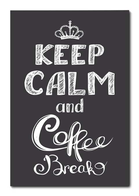 Placa Decorativa - Keep Calm and Coffee Break - 0677plmk