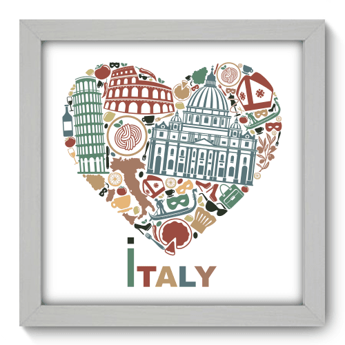 Quadro Decorativo - I Love Italy - 067qdmb