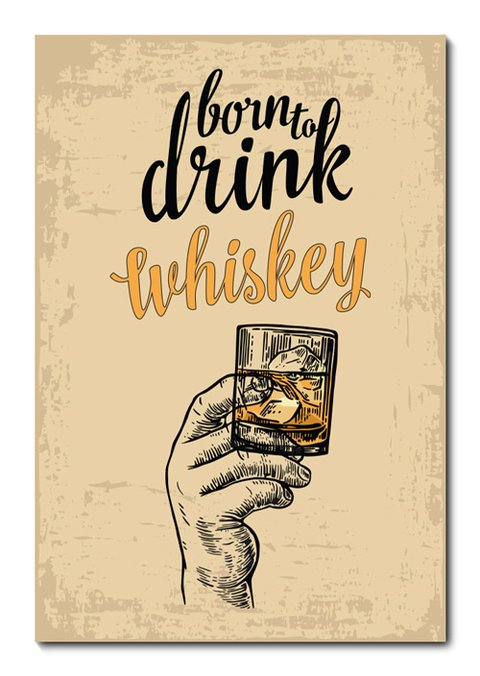Placa Decorativa - Whiskey - 0694plmk