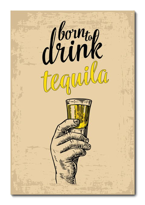Placa Decorativa - Tequila - 0695plmk
