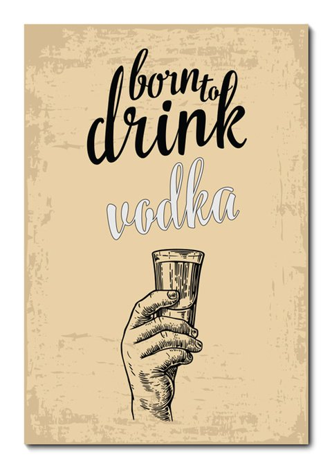 Placa Decorativa - Vodka - 0697plmk