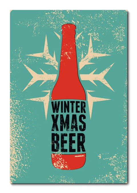Placa Decorativa - Winter Beer - 0698plmk