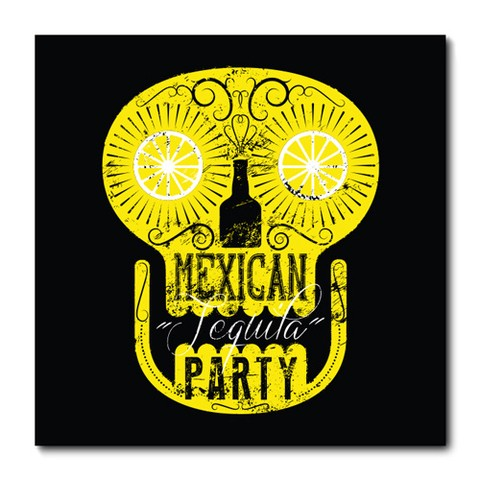 Placa Decorativa - Mexican Tequila Party - 0699plmk
