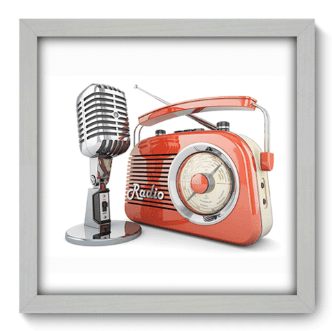 Quadro Decorativo - Radio - 069qdgb