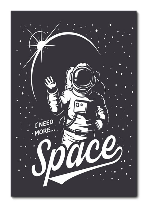 Placa Decorativa - I Need More Space - 0700plmk