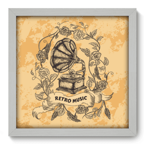 Quadro Decorativo - Retro Music - 073qdgb